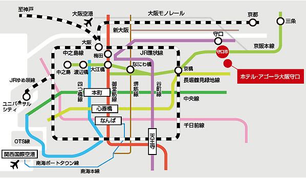 広域マップ(電車)